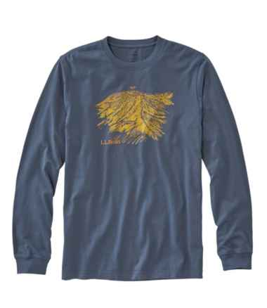 Lakewashed® Garment Dyed Graphic Tee, Long-Sleeve Slightly Fitted Baxter