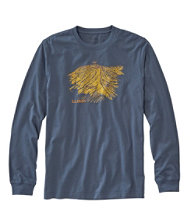 Lakewashed Garment Dyed Graphic Tee, Long-Sleeve Slightly Fitted Baxter