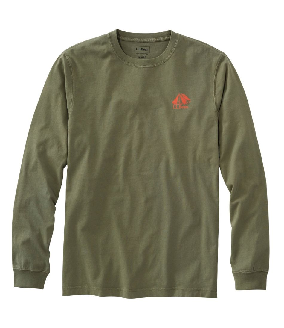 Lakewashed® Garment-Dyed Graphic Tee, Long-Sleeve Slightly Fitted Tent
