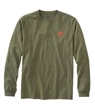 Lakewashed Garment-Dyed Graphic Tee, Long-Sleeve Slightly Fitted Tent