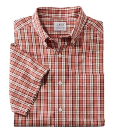 Wrinkle-Free Vacationland Shirt, Traditional Short-Sleeve Plaid