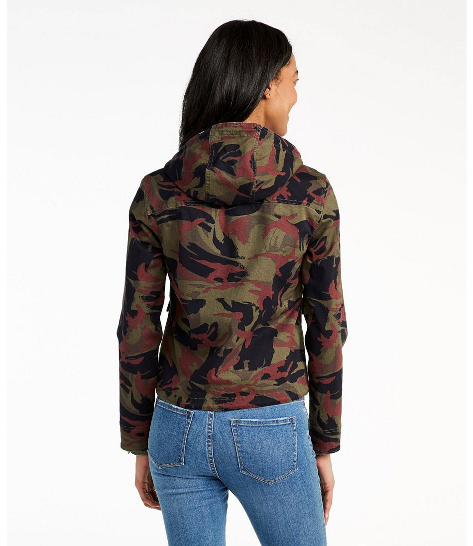 Signature Cropped Utility Hoodie, Print