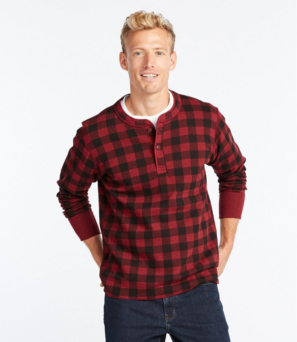 Two-Layer River Driver's Shirt®, Print Henley