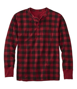 Two-Layer River Driver's Shirt, Print Henley