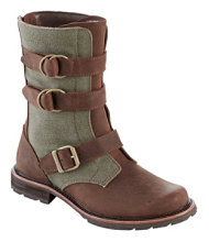 Women's Old Port Boots, Mid Leather Canvas