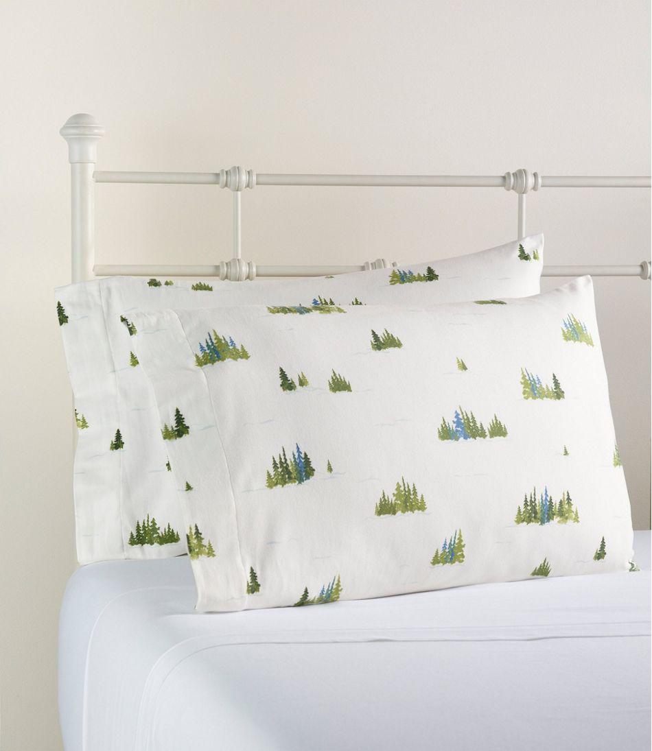 Treeline Print Flannel Sheet Collection