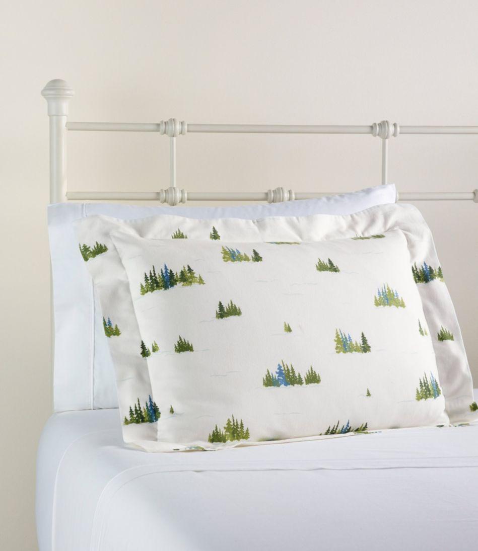 Treeline Print Flannel Comforter Cover Collection