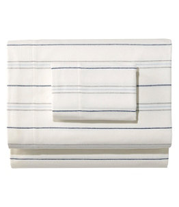 Organic Flannel Sheet Collection, Stripe
