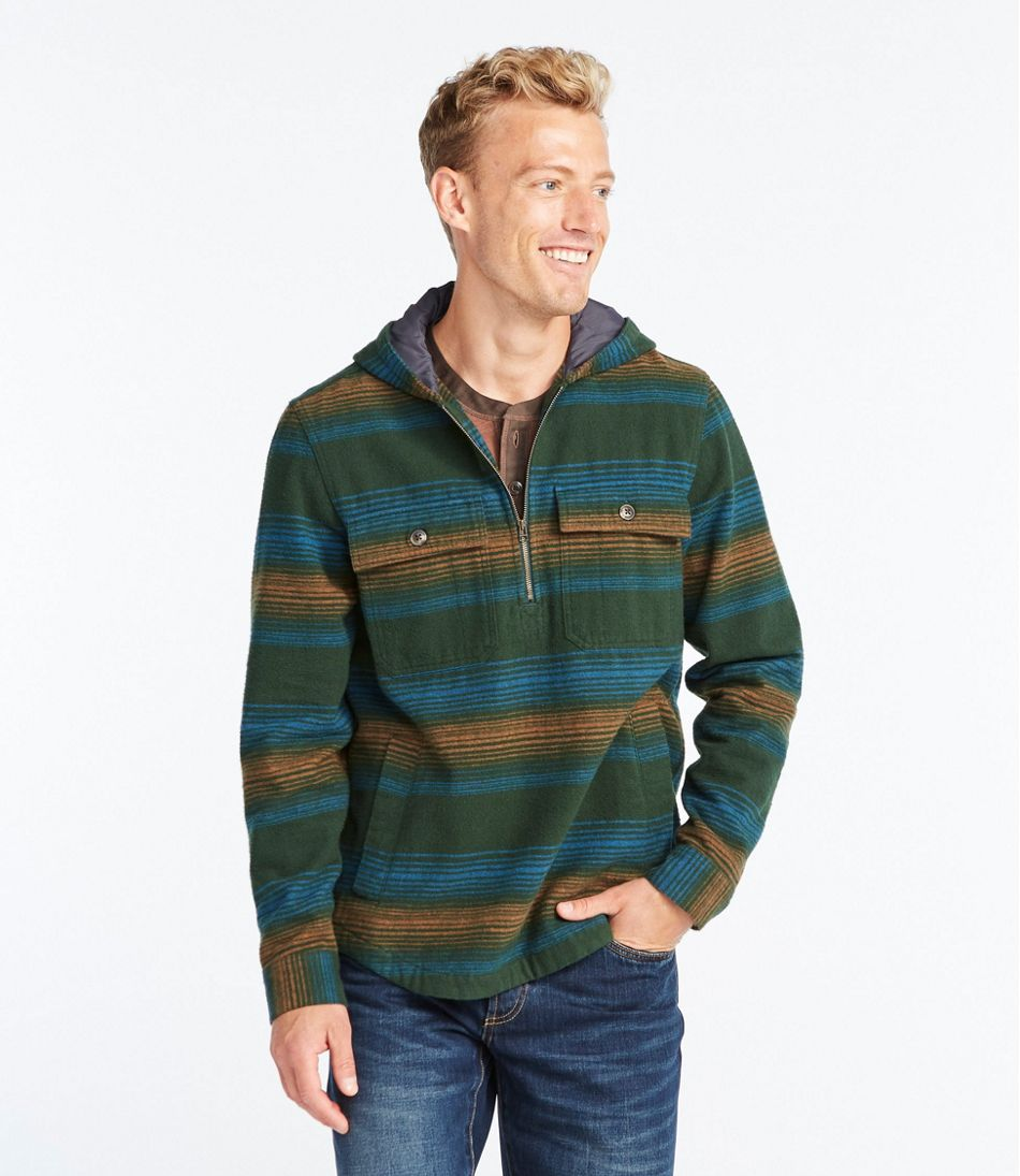 Signature 1933 Chamois Cloth Shirt, Long-Sleeve Hooded Stripe
