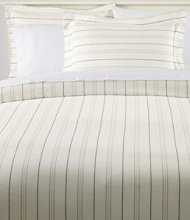 Organic Flannel Comforter Cover Collection, Stripe