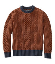 Signature Cotton Fisherman Sweater, Colorblock