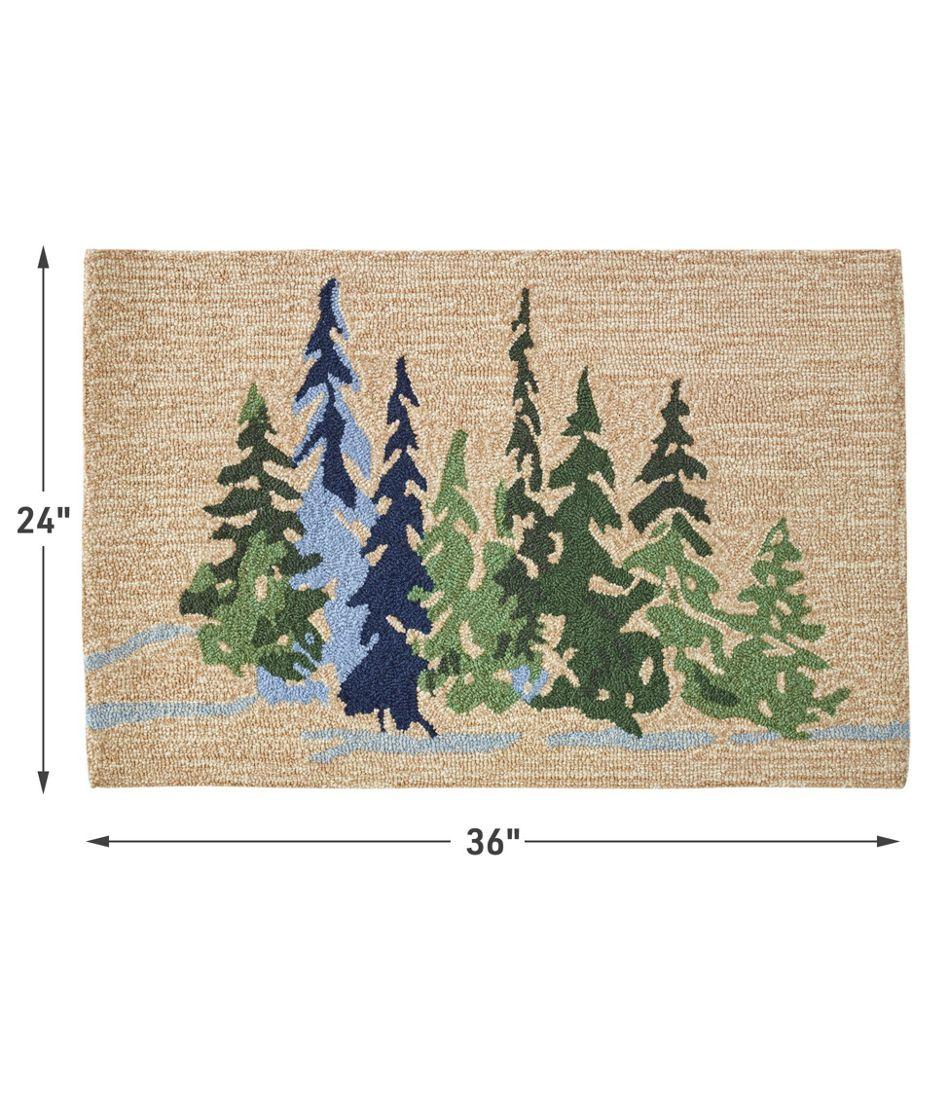 Indoor/Outdoor Vacationland Rug, Treeline