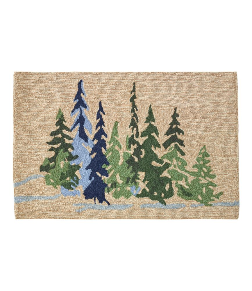 Indoor Outdoor Vacationland Rug Treeline
