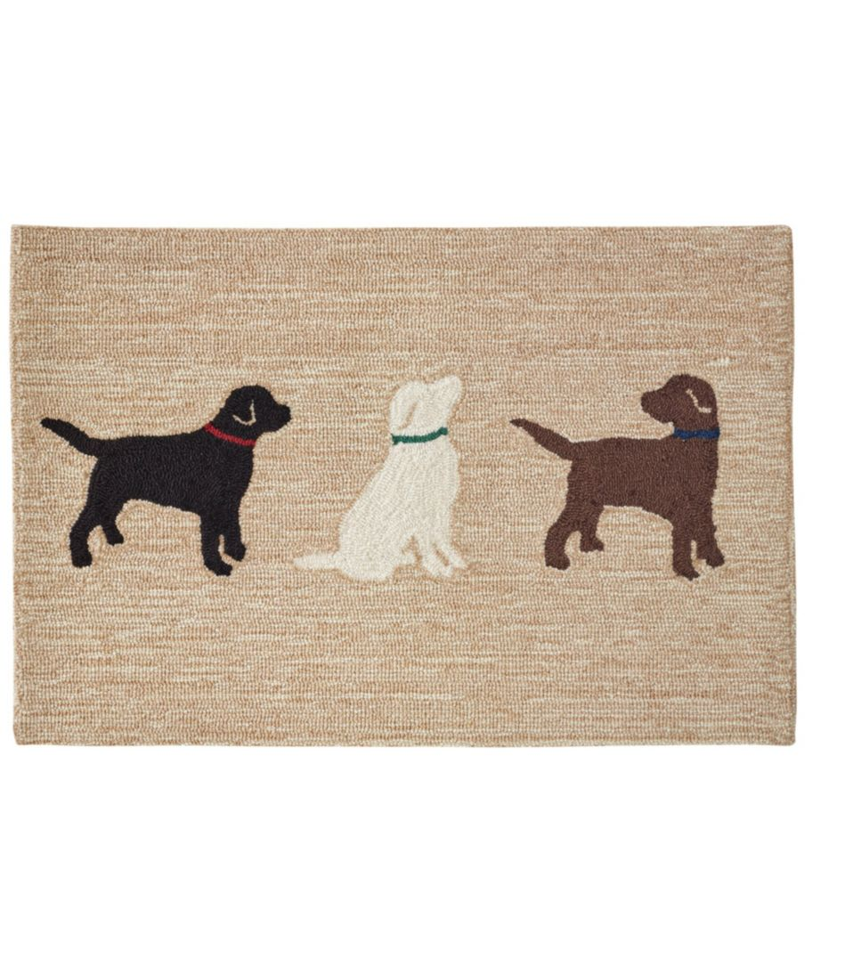 Indoor/Outdoor Vacationland Rug, Three Labs