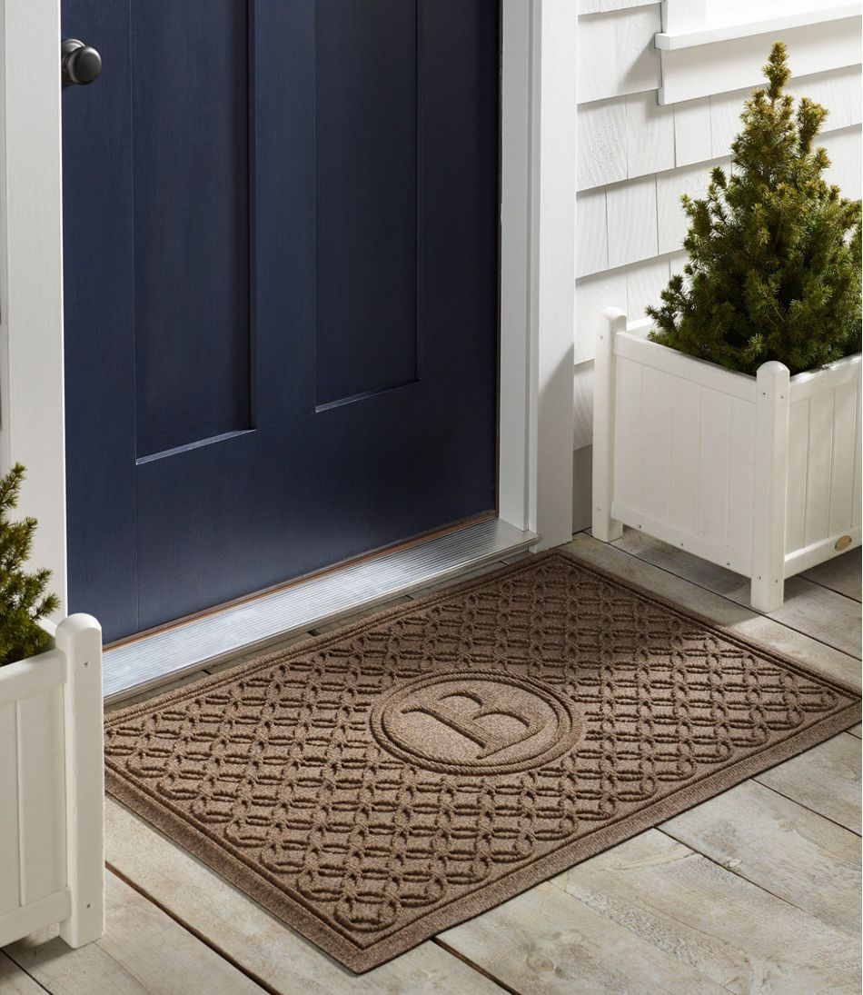 Heavyweight Recycled Waterhog Doormat, Locked Circles, Personalized