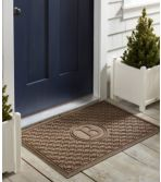 Heavyweight Recycled Waterhog Doormat, Locked Circles, Personalized