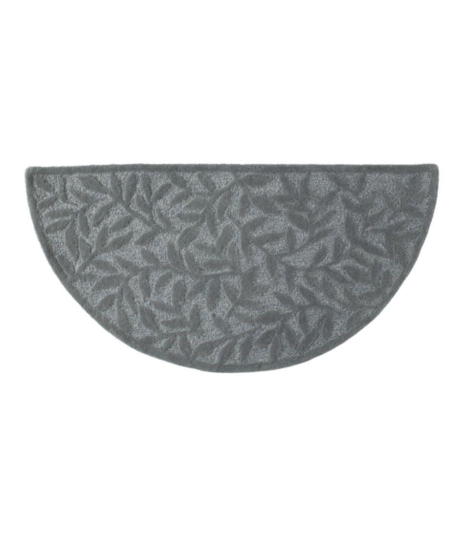 Wool Hearth Rug, Crescent, Leaf