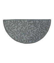 Wool Hearth Rug, Crescent, Leaf