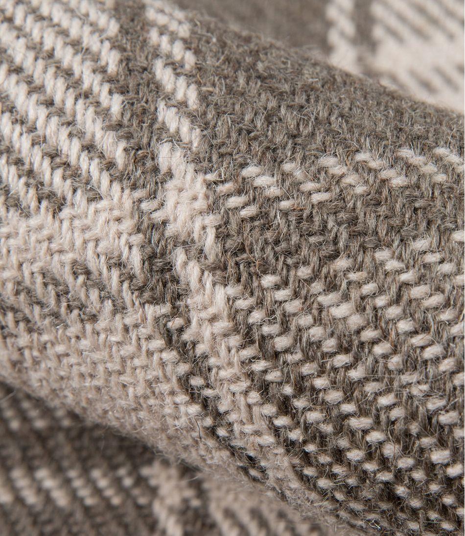 Plaid Wool Rug Gray