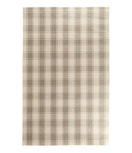 Plaid Wool Rug, Gray