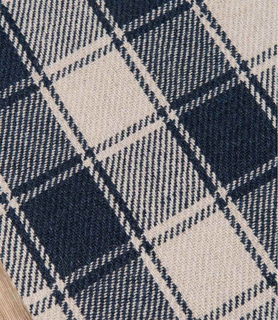 Plaid Rug: Plaid Wool Rug, Navy