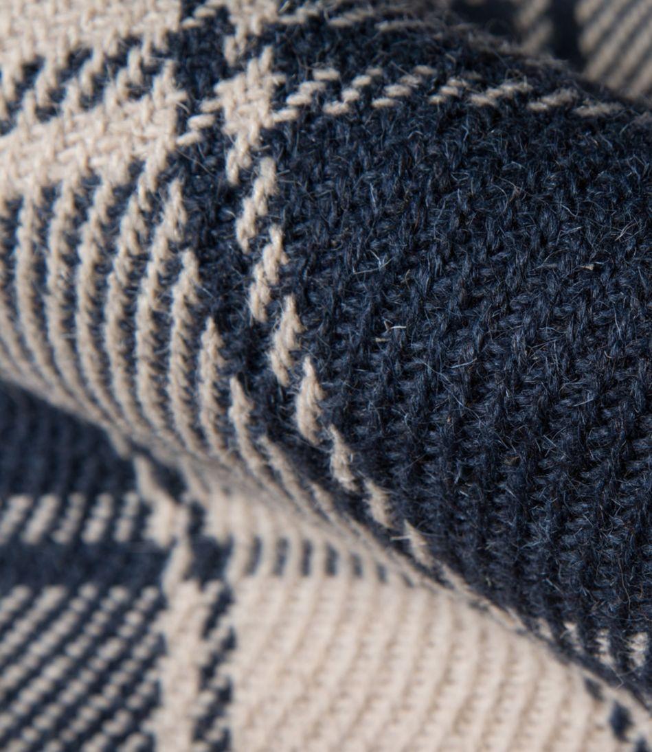 Plaid Wool Rug, Navy