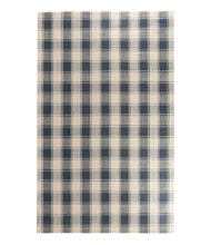 Plaid Wool Rug, Navy