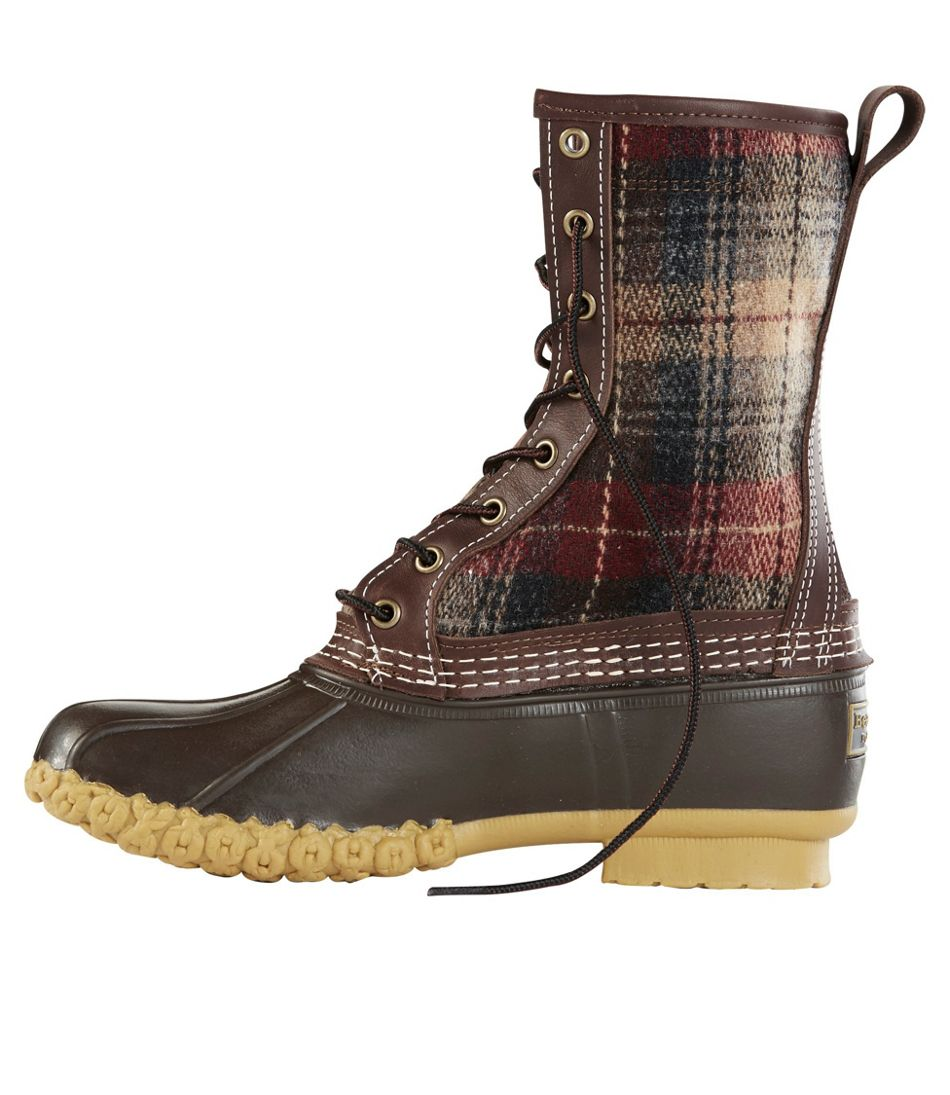 "Women's L.L.Bean Boot, 10"" Shearling-Lined Wool Plaid"