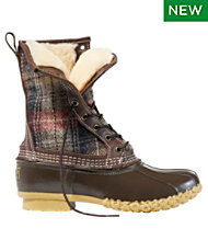 Bean Boot 10 Shearling Lined Wool Plaid