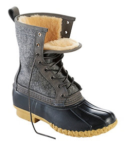 "Women's L.L.Bean Boot, 10"" Shearling-Lined Herringbone"