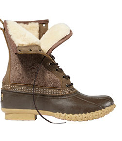 "Men's L.L.Bean Boot, 10"" Shearling-Lined Herringbone"