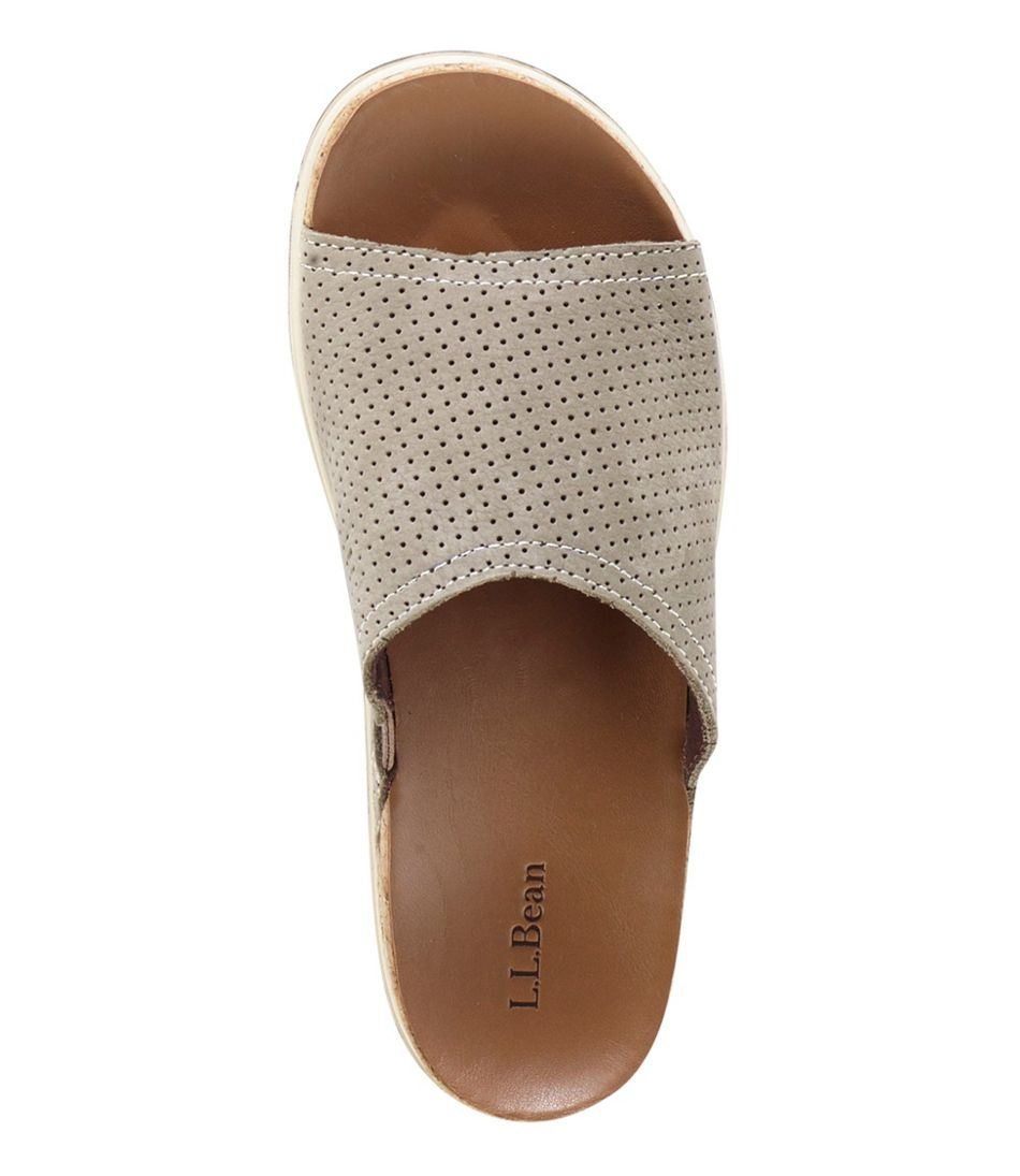 Women's Eco Comfort Slides, Perforated Nubuck