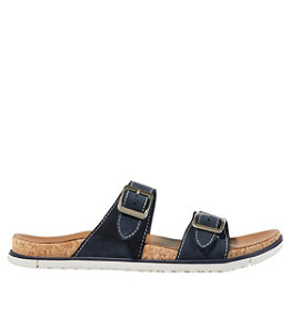Women's Eco Comfort Leather Sandals, Two-Strap