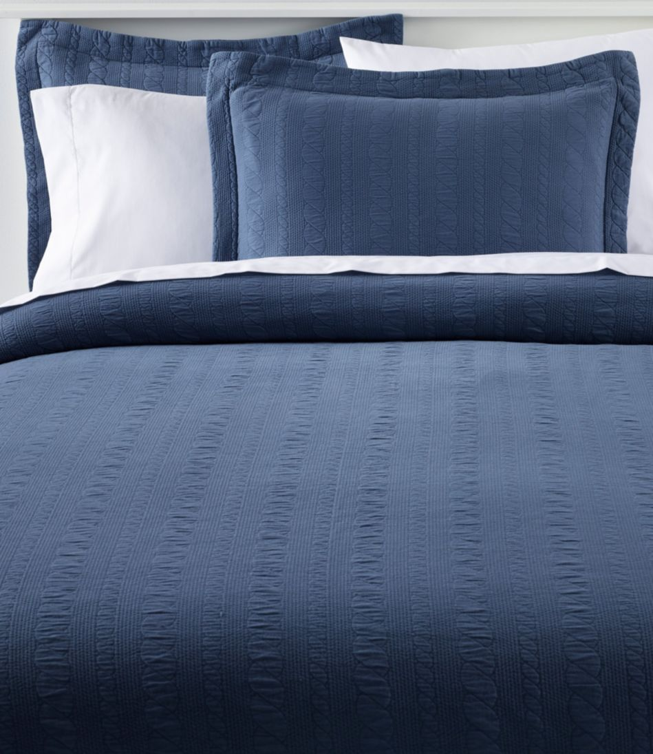 Cable Stitched Matelasse Bedspread