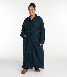 Women's Scotch Plaid Flannel Robe