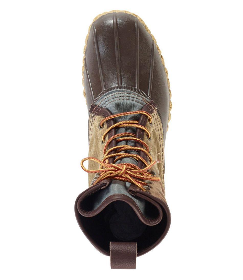 "Men's Signature Bean Boot, 10"" Retro Colorblock Canvas"