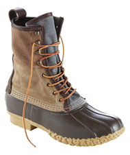 "Men's Signature Bean Boot, 10"" Retro Colorblock Canvas"