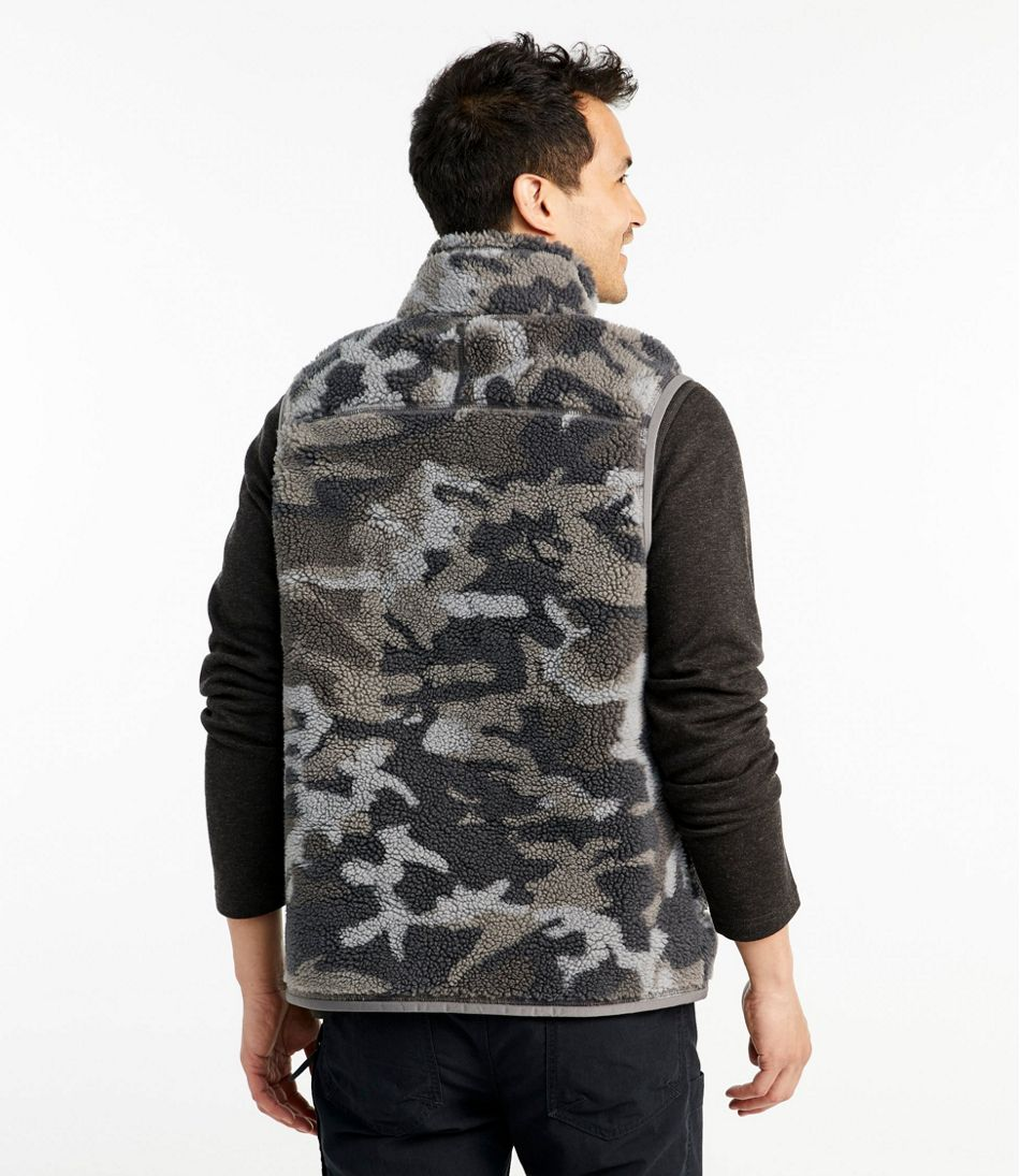 Men's Mountain Pile Fleece Vest, Camouflage