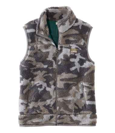 Men's Mountain Pile Fleece Vest, Camouflage