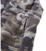 Women's Mountain Pile Fleece Vest, Camouflage