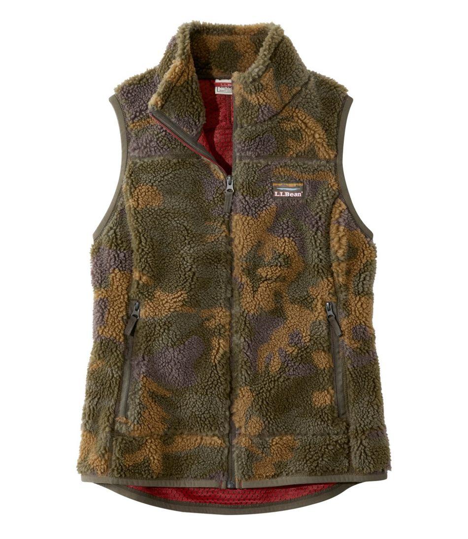 Women's Mountain Pile Fleece Vest, Camouflage
