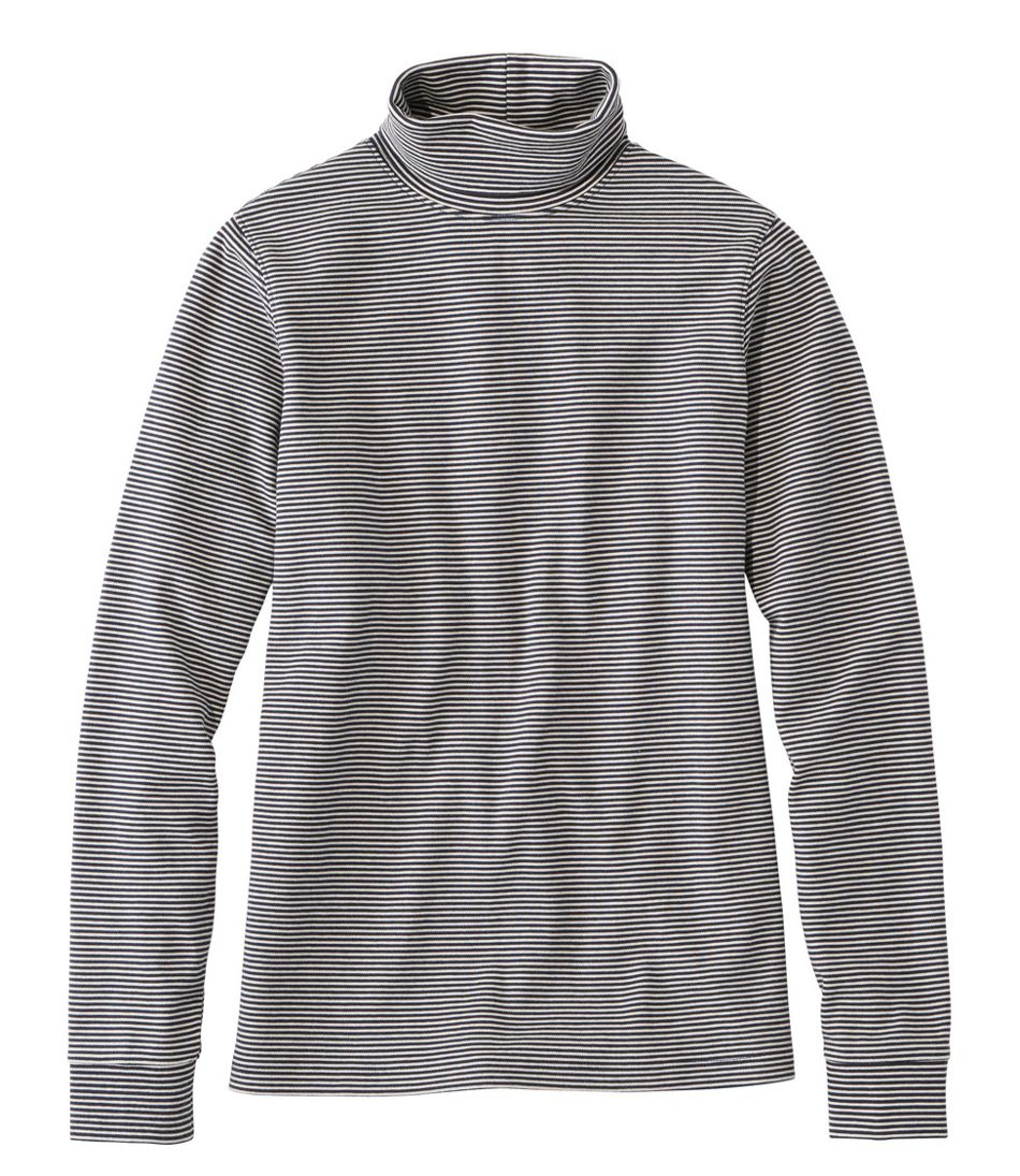 L.L.Bean Interlock Turtleneck, Long-Sleeve Stripe