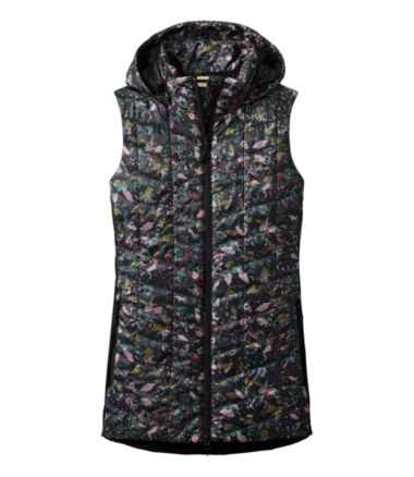 Women's Primaloft Packaway Long Vest, Print