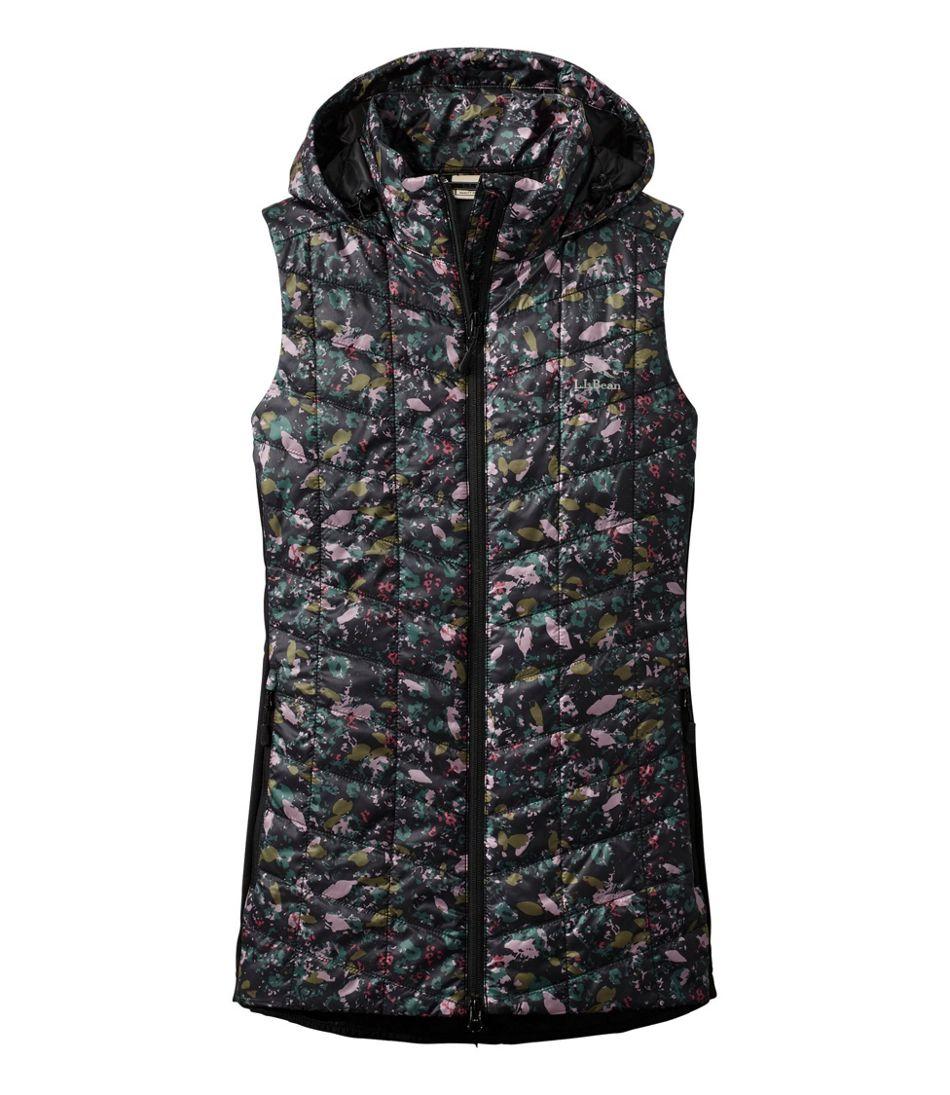 Women's Primaloft Packaway Long Vest, Print