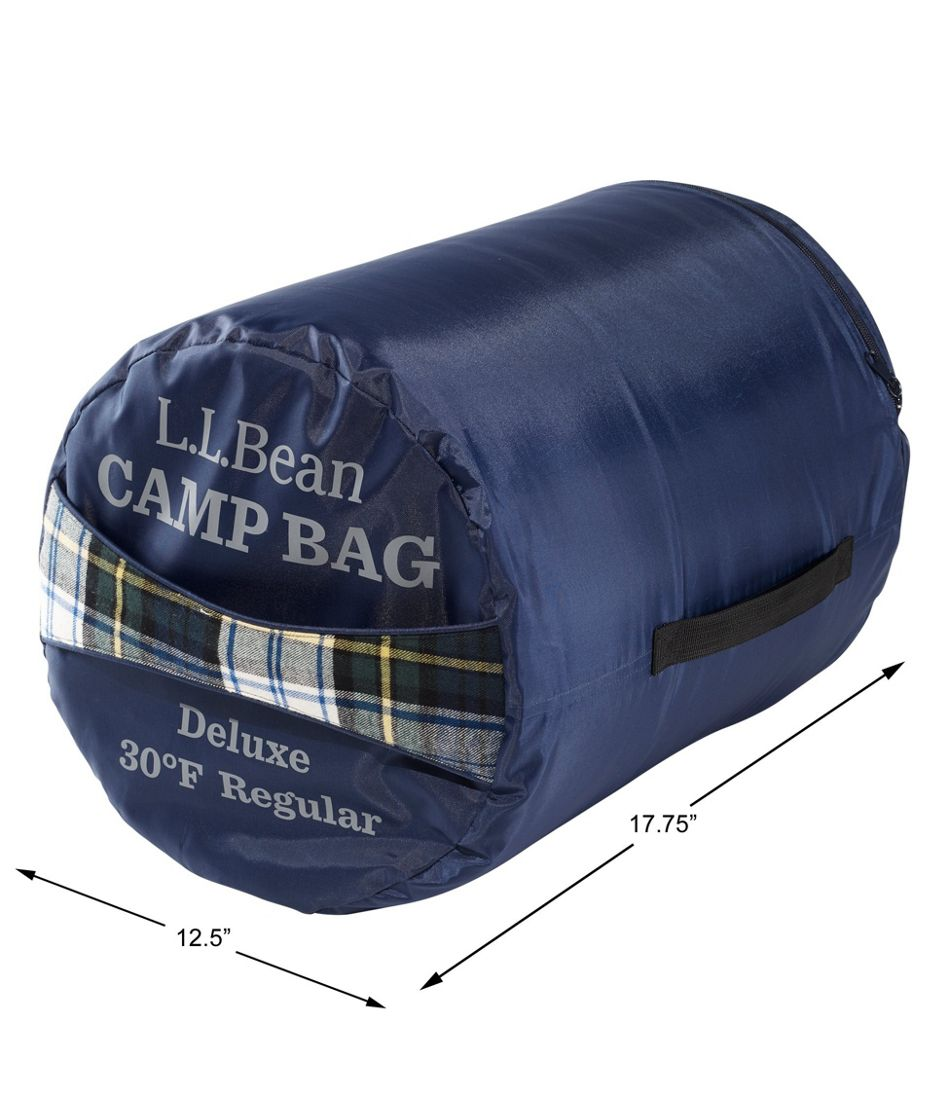 Adults' Deluxe Flannel-Lined Camp Bag, 30° Extra-Large