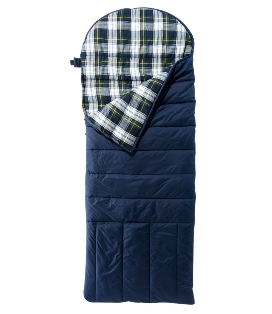 Deluxe Flannel-Lined Camp Bag, 30° Extra-Large