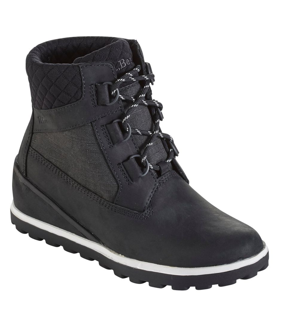 Wedge Snow Boot, Leather/Mesh D Ring by L.L.Bean