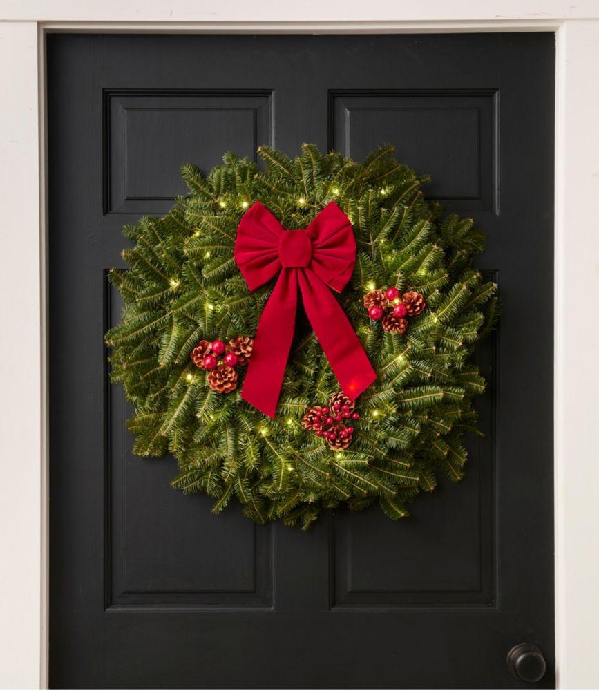 "Traditional Balsam Wreath 24"" Lit"