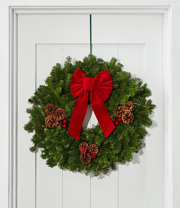 """Traditional Balsam Wreath 24"""", One Color, large image number 0"""