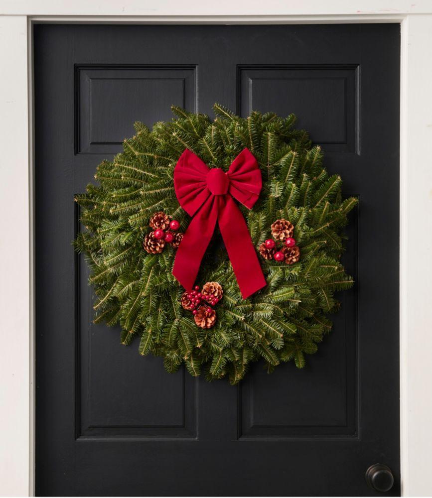 "Traditional Balsam Wreath, 24"""